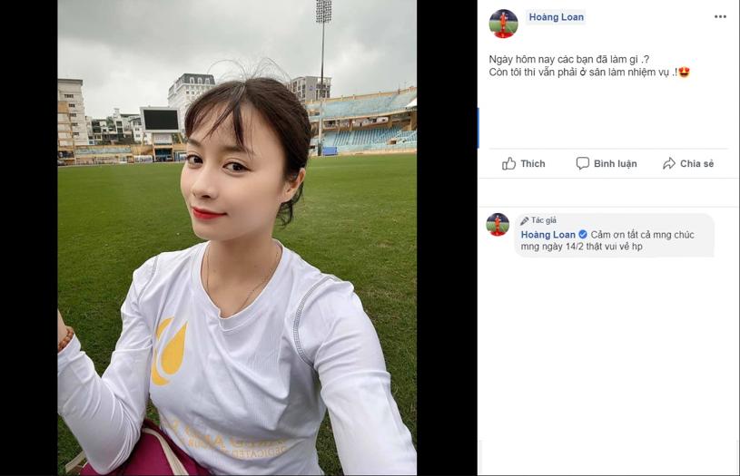 Hot girl Hoàng Thị Loan tung ảnh cực dễ thương đốn tim NHM