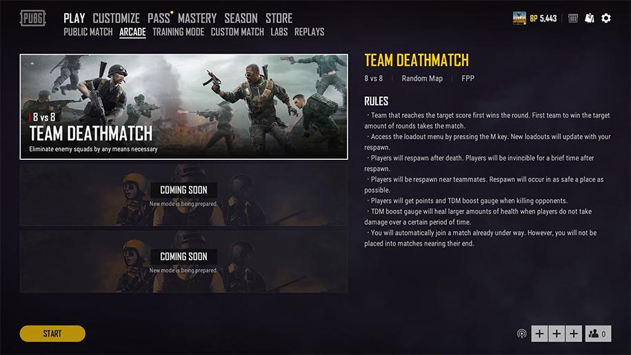 Những điều cần biết về chế độ Team Deathmatch của PUBG: