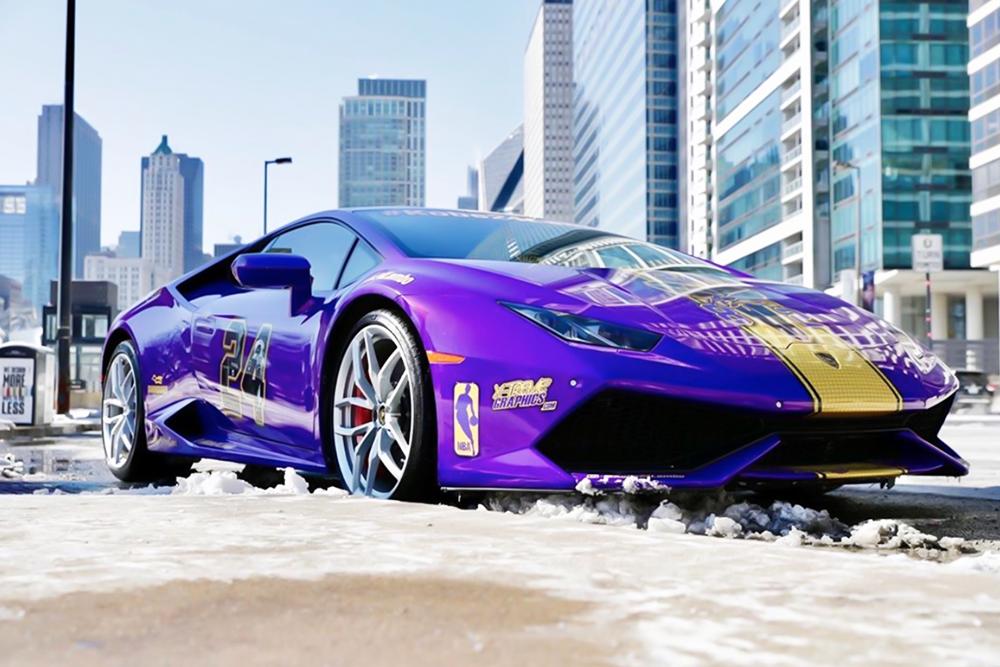 Cận cảnh siêu xe Lamborghini Huracan cực độc của một fan cuồng Kobe Bryant