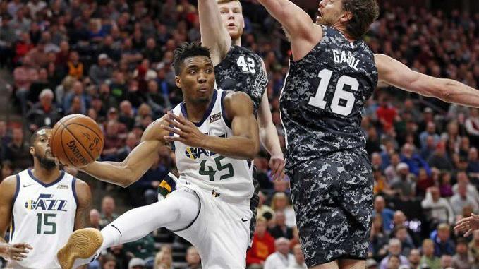 Nhận định NBA: Utah Jazz vs San Antonio Spurs (ngày 22/2, 09h00)