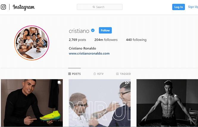 Ronaldo vô đối về kiếm tiền trên mạng xã hội khi bỏ xa Messi