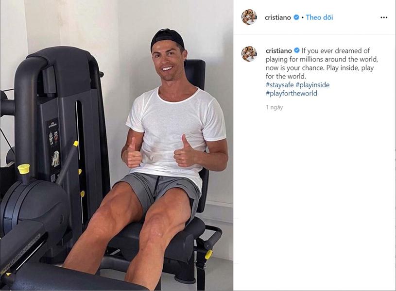 Ronaldo ăn uống và tập luyện mỗi ngày như thế nào để chống COVID-19?