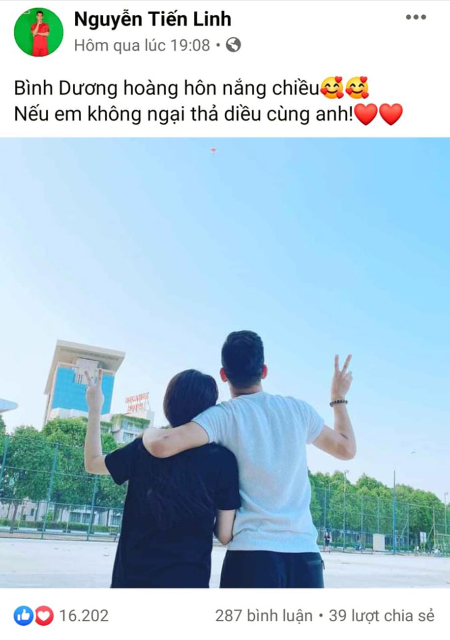 Cặp đôi ngọt ngào Tiến Linh – Hồng Loan dính nghi vấn chia tay