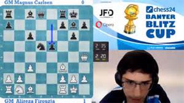 Chung kết cờ chớp Banter Blitz Cup 2020: Vua cờ Magnus Carlsen thua sốc thiếu niên lưu vong 16 tuổi