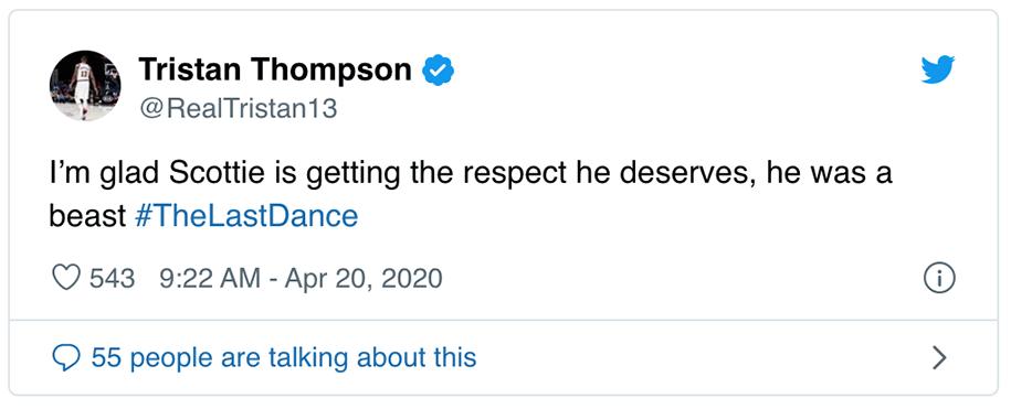 Sao NBA dậy sóng với mức lương bèo bọt của Scottie Pippen trong The Last Dance