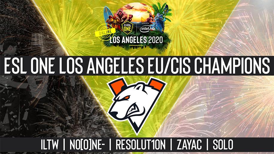 Kết quả Dota 2 ESL Los Angeles Online 2020 khu vực EU/CIS