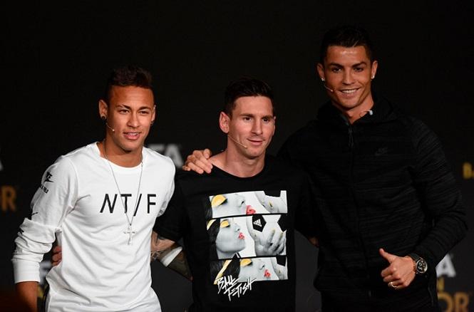 Messi, Ronaldo và Neymar tạo cột mốc 100 triệu euro cách đây 5 năm