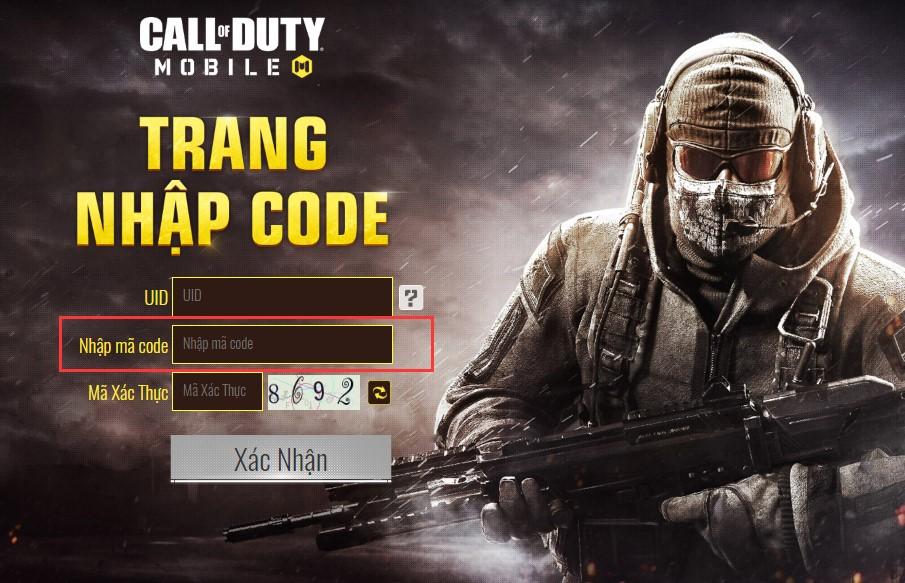 Cách nhập code Call of Duty Mobile VNG mới nhất