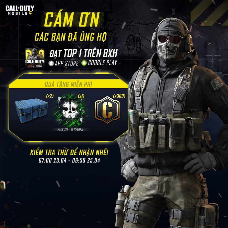 Call off Duty Mobile đạt top 1 trên BXH Appstore và Google Play
