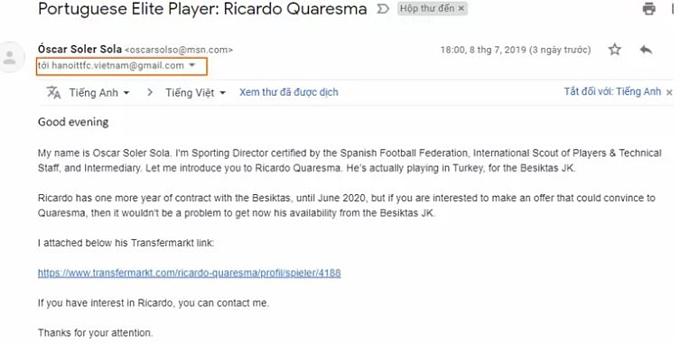 Ricardo Quaresma phiêu dạt về đâu sau khi bị Hà Nội FC từ chối đá V-League?