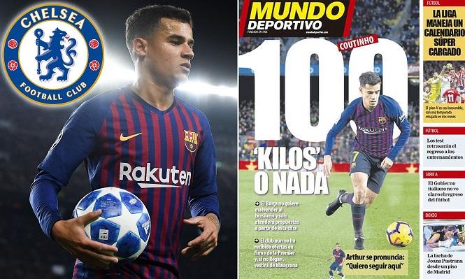 Tin bóng đá mùa COVID-19 30/4: Barca ra điều kiện bán Coutinho