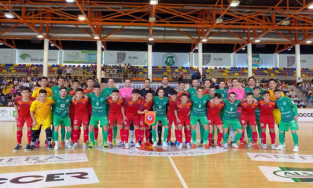 ĐT Futsal Việt Nam chạm trán Real Betis và Malaga tại Tây Ban Nha
