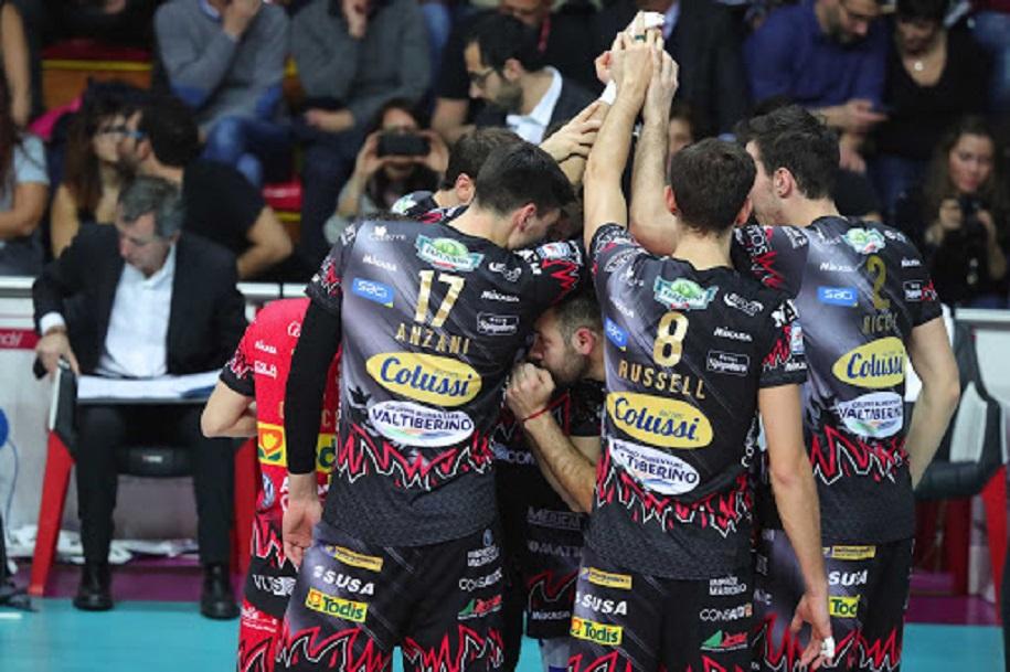 Thắng trận thứ 6 liên tiếp Perugia vững vàng ở ngôi vị số 1 bảng D Champions League Volley 2020
