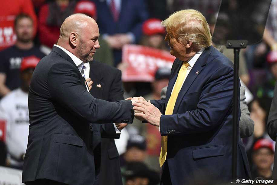 Chủ tịch UFC chúc Tổng thống Donald Trump tái đắc cử