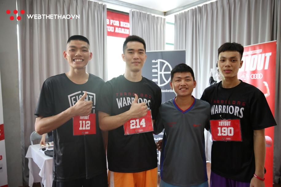 Các VĐV Lào Cai tham dự kỳ Try Out của Thang Long Warriors. Ảnh: Minh Hiếu