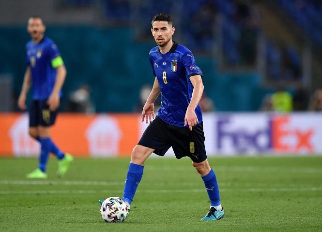 """Jorginho đứng đầu các """"chân chạy"""" của Italia tại EURO 2021"""