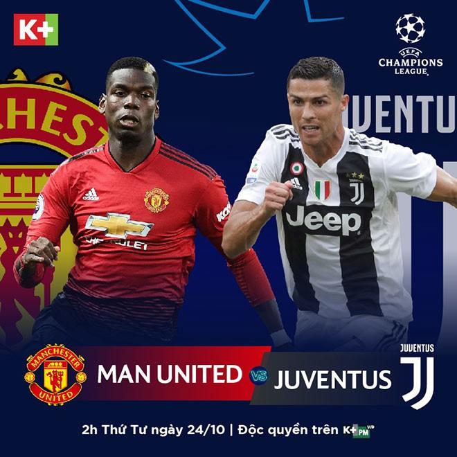 Link xem trực tiếp trận Man Utd - Juventus ở Champions League trên K+ - Ảnh 2.