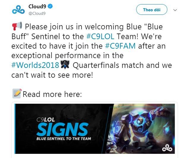 Cloud9 ký hợp đồng với Blue Buff sau màn hỗ trợ chống lại Afreeca Freecs tại CKTG 2018. - Ảnh 1.