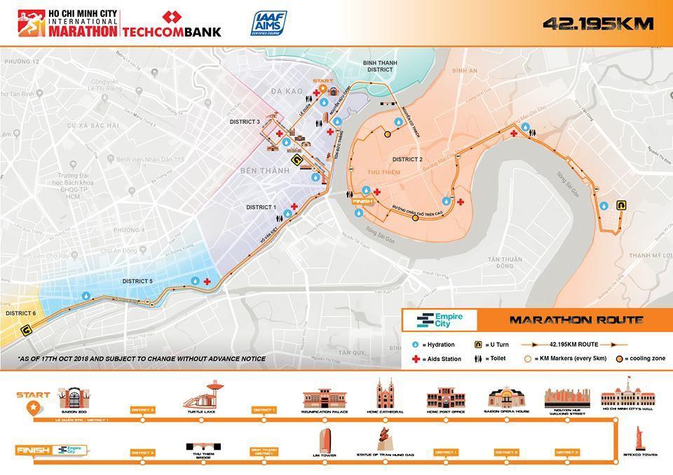 Lộ trình thay thế các tuyến đường cấm ở giải marathon quốc tế Techcombank TPHCM - Ảnh 2.