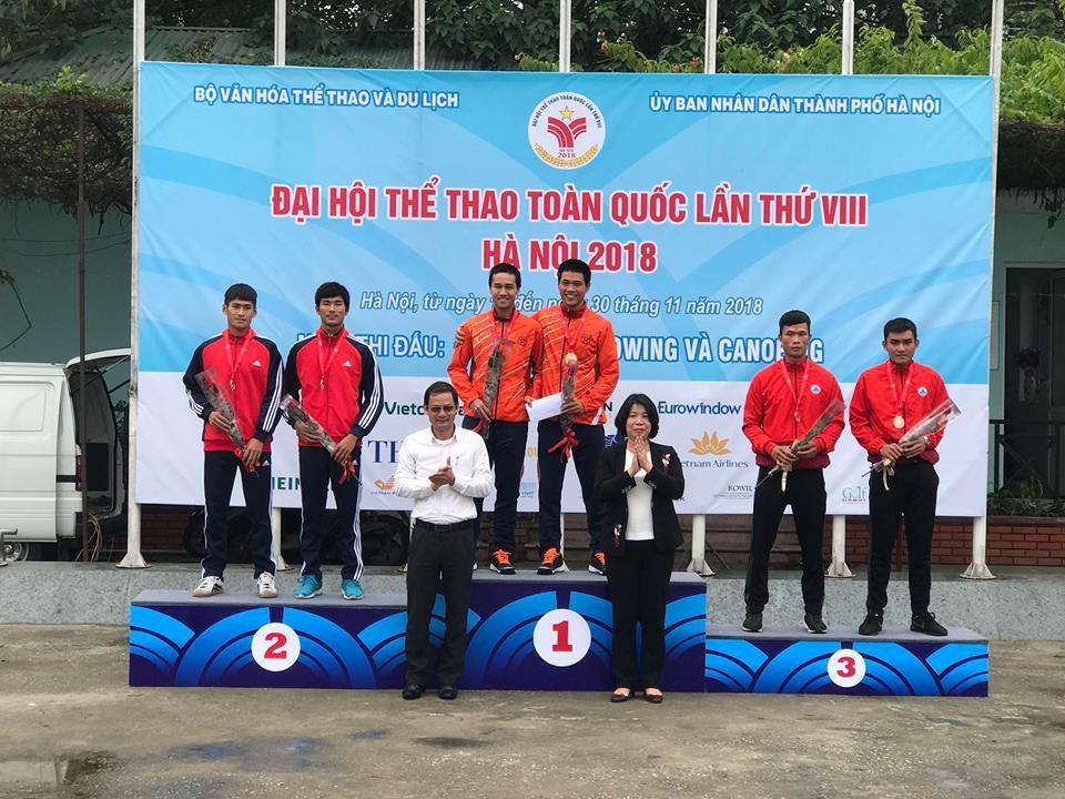 Rowing Đại hội TDTT toàn quốc 2018: Chủ nhà Hà Nội độc chiếm ngôi đầu - Ảnh 1.