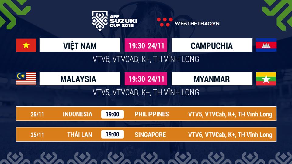 Lịch thi đấu AFF Cup 2018 mới nhất hôm nay 24/11 - Ảnh 1.
