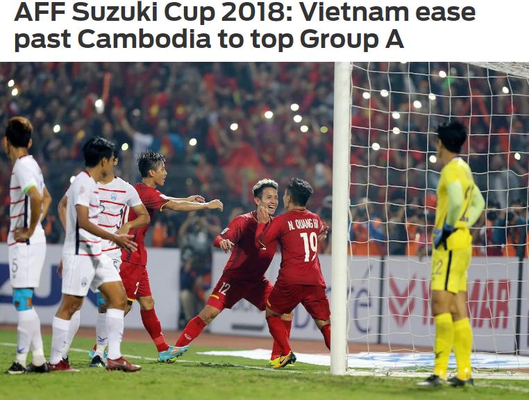 Truyền thông châu Á: Việt Nam quá mạnh cho Campuchia khi giành vé vào bán kết AFF Cup - Ảnh 1.