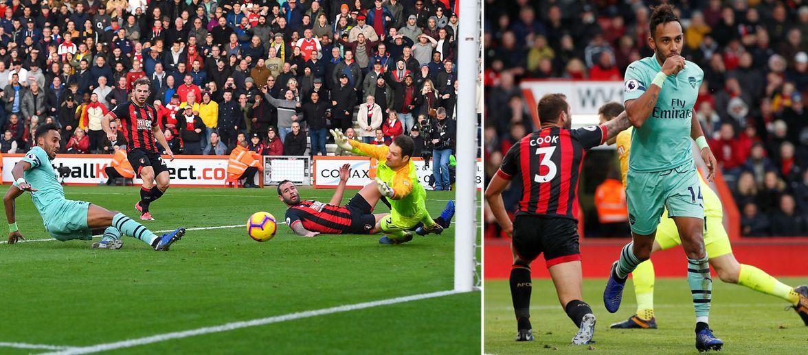 Aubameyang trở thành vua ghi bàn vào Chủ nhật và những điểm nhấn ở trận Bournemouth - Arsenal - Ảnh 1.