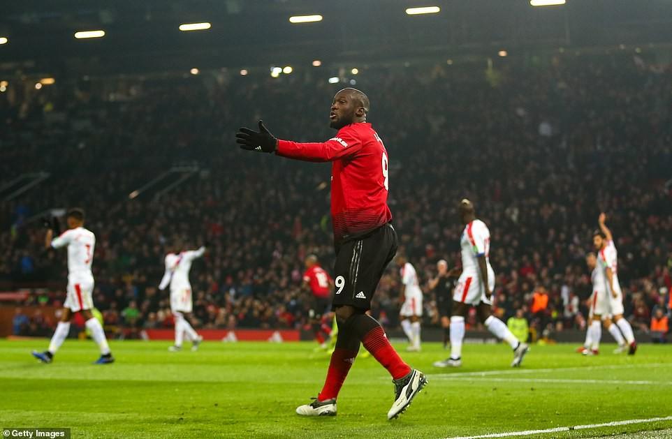Choáng với số phút tịt ngòi của Lukaku tại Old Trafford sau khi mất hình trước Palace - Ảnh 1.