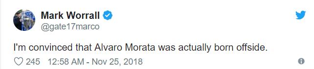 Alvaro Morata chấp cả một đội bóng về kỷ lục... việt vị ở giải Ngoại hạng Anh - Ảnh 7.