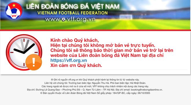 Website của Liên đoàn Bóng đá Việt Nam không thể truy cập - Ảnh 2.