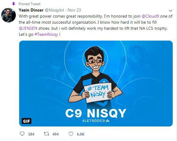 Nisqy tham gia đội hình Cloud9 cho mùa giải 2019 - Ảnh 1.