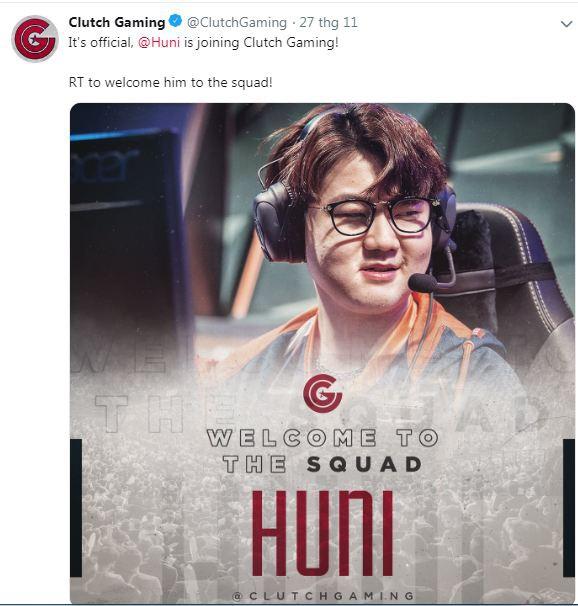 Huni tham gia đội hình Clutch Gaming cùng Damonte - Ảnh 1.