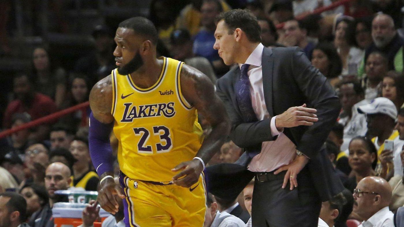 Rộ tin đồn LeBron James bất hòa với HLV trưởng Lakers - Ảnh 1.