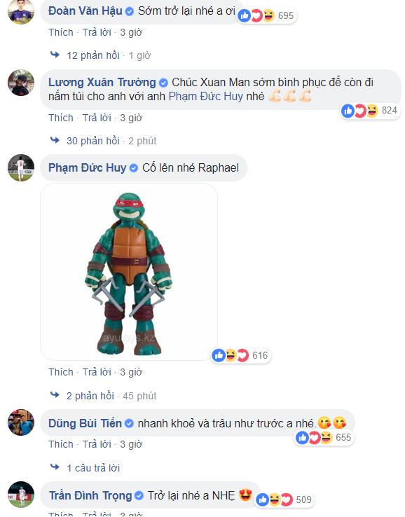"""Các tuyển thủ Việt Nam đồng loạt gửi lời chúc dí dỏm đến """"thương binh"""" Phạm Xuân Mạnh - Ảnh 3."""