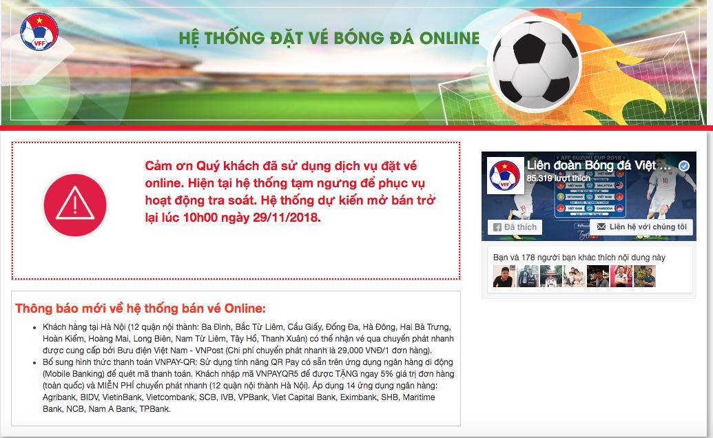10h sáng nay VFF bán tiếp 15% lượng vé online trận Việt Nam - Philippines - Ảnh 1.