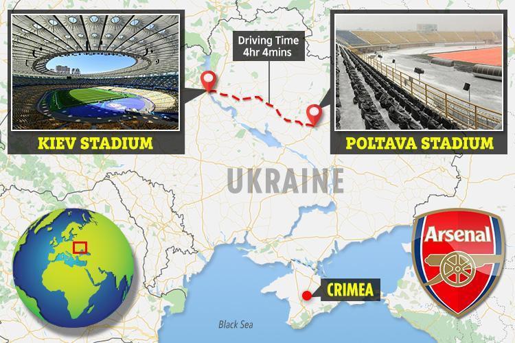 Arsenal và nỗi lo thể lực trước quãng đường hành xác tới sân của Vorskla Poltava - Ảnh 5.