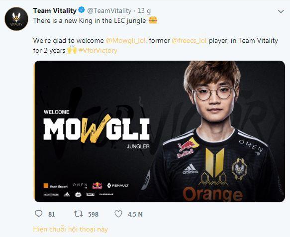 Mowgli gia nhập đội hình Team Vitality với hợp đồng hai năm - Ảnh 1.