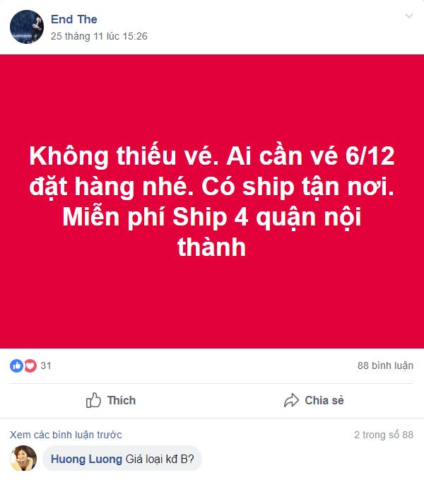 """Phe vé đội giá 1 cặp trận Việt Nam – Philippines tới 7 triệu, ngang nhiên """"giao hàng"""" tận nơi - Ảnh 6."""