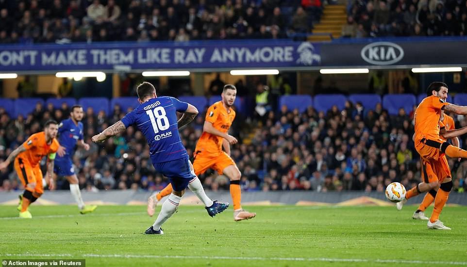 Cú đúp của Giroud, kỷ lục của Hudson-Odoi và top 5 thống kê ấn tượng trận Chelsea - PAOK - Ảnh 1.