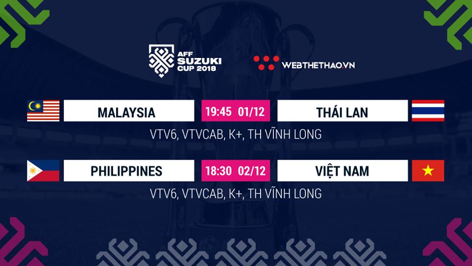 Lịch thi đấu AFF Cup 2018 mới nhất hôm nay 01/12 - Ảnh 1.