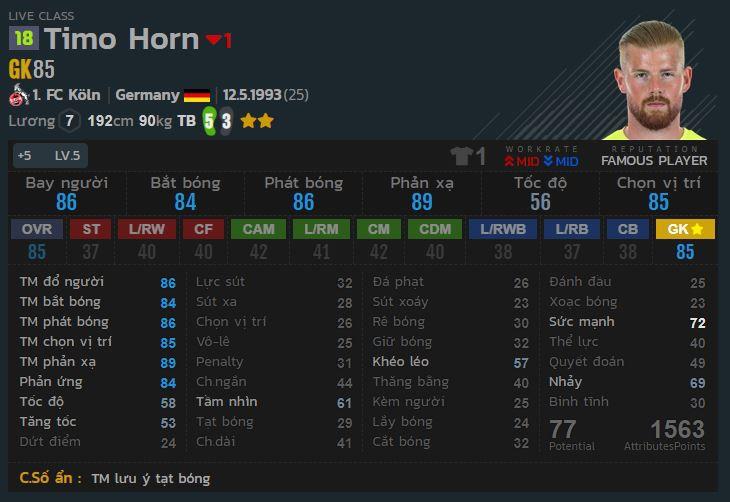 Top 5 thủ môn có chỉ số lương thấp nhưng cực kì bá đạo trong Fifa Online 4
