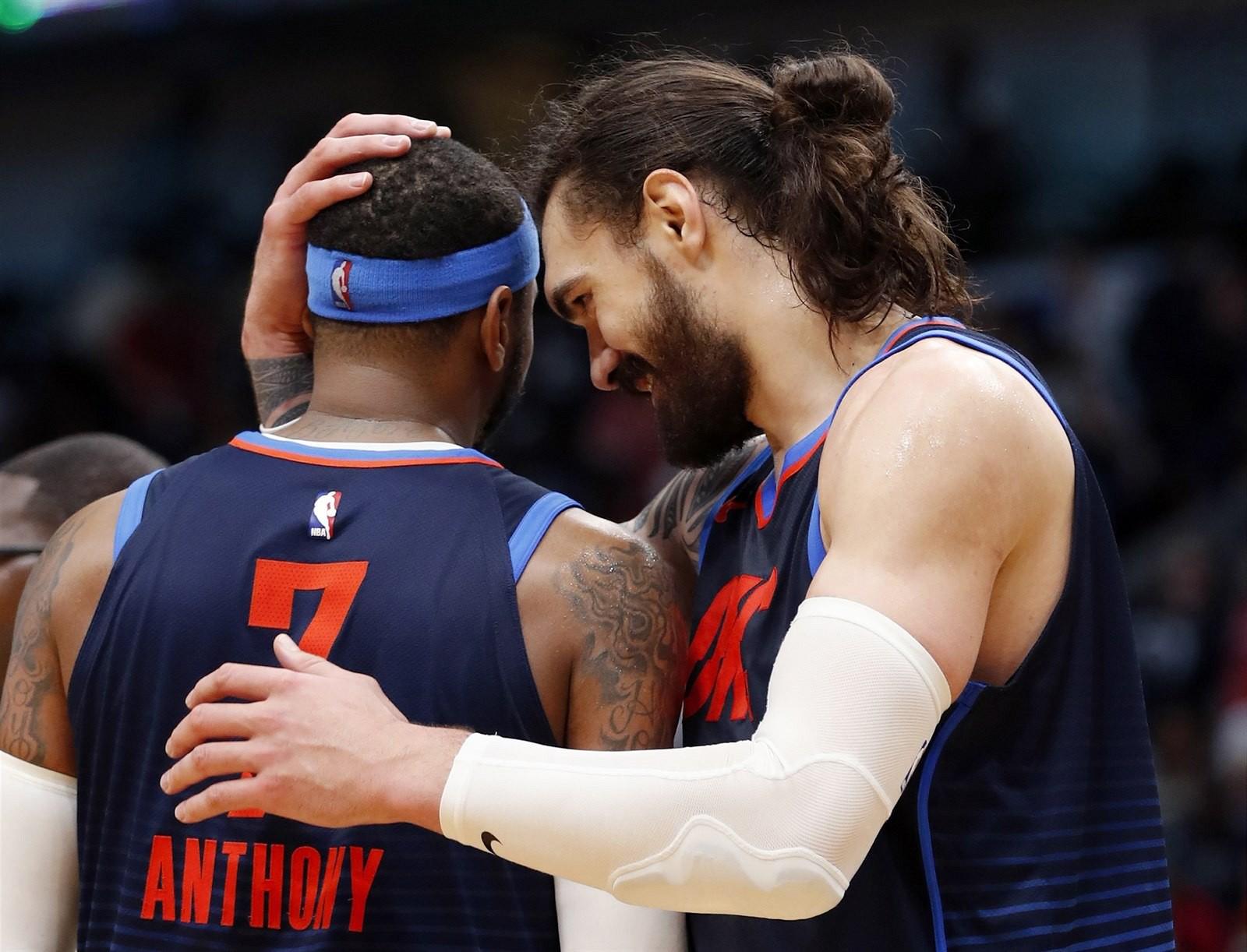 Thói like dạo của Steven Adams gây tổn thương cho đồng đội Carmelo Anthony - Ảnh 2.