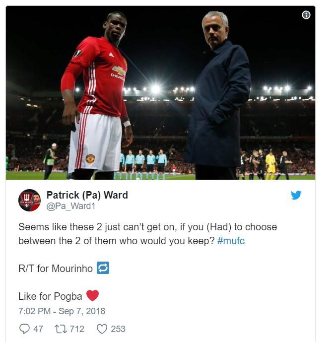 CĐV M.U đang ngả về phe nào trong cuộc nội chiến 2 mùa giữa Pogba và Mourinho? - Ảnh 3.