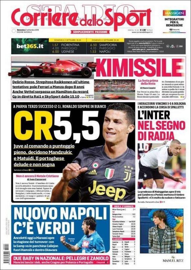 Sau màn tâng bốc, Ronaldo bắt đầu bị truyền thông Italia tấn công vì tịt ngòi - Ảnh 3.