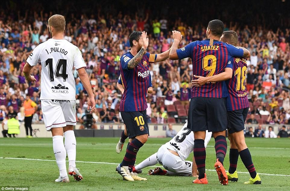Messi, Suarez và top 5 điểm nhấn ấn tượng trong chiến thắng hủy diệt 8-2 của Barcelona trước Huesca - Ảnh 4.