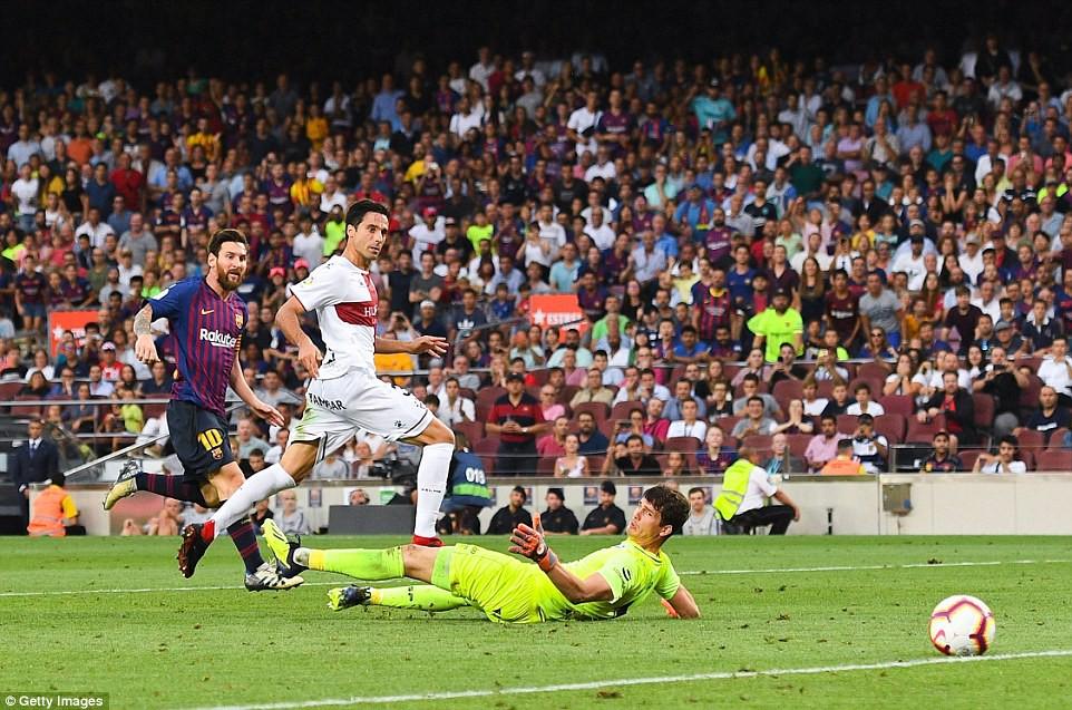 Messi, Suarez và top 5 điểm nhấn ấn tượng trong chiến thắng hủy diệt 8-2 của Barcelona trước Huesca - Ảnh 1.