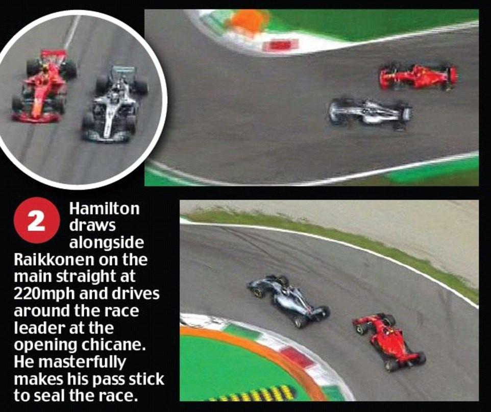 Italian GP 2018: Va chạm nảy lửa với Vettel, Hamilton vẫn lên ngôi đầy kịch tính - Ảnh 4.
