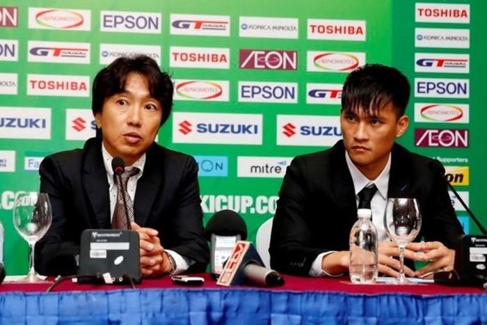 HLV Miura (trái) đã được Công Vinh mời về để tạo ra sự chuyên nghiệp cho CLB TP.HCM