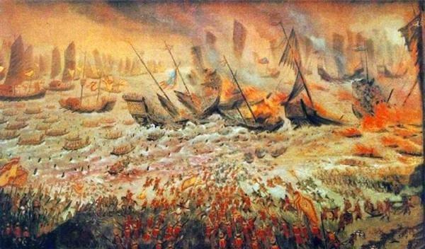 Hình minh họa trận Bạch Đằng lịch sử của Vua Ngô Quyền