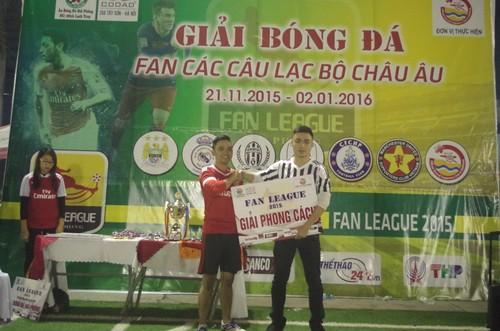 Đội bóng fan Arsenal vô địch giải Fan League Hải Phòng 2015